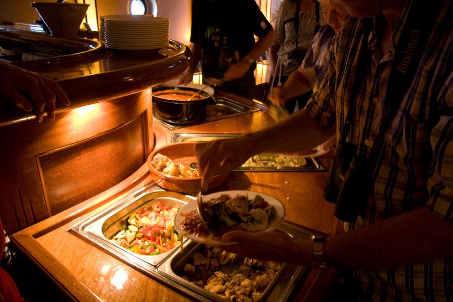 Biologisch pasta buffet