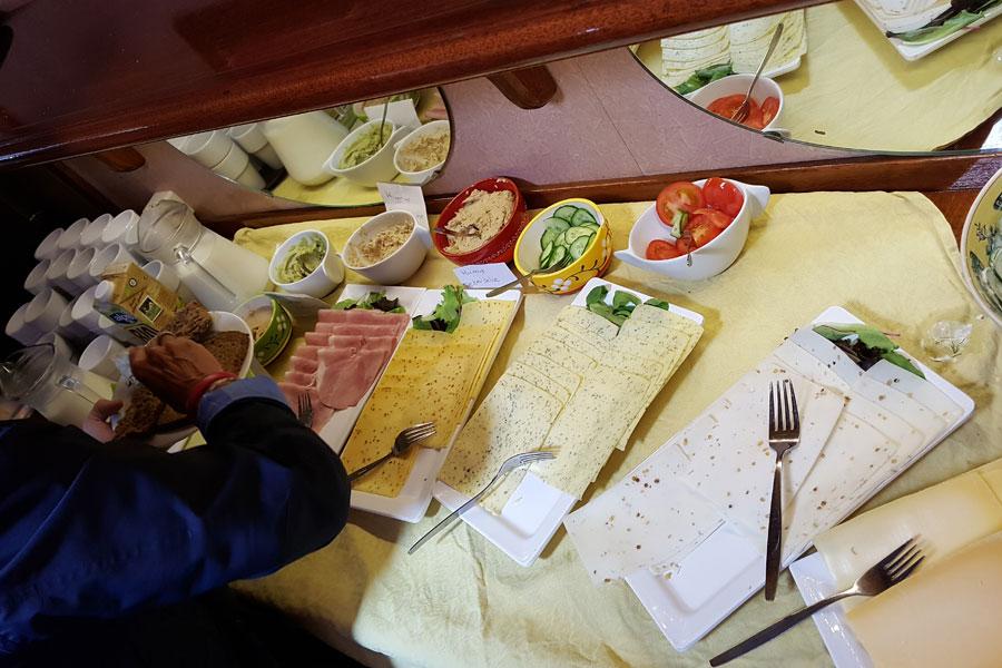 Lunch aan boord